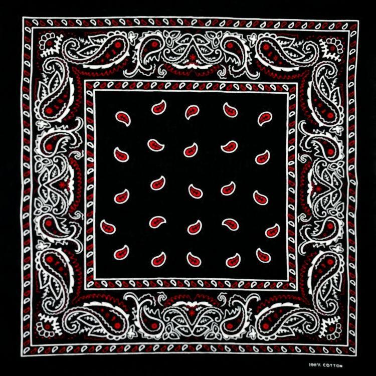 ea27927121a Acheter Coton Noir Fond Rouge Paisley Bandana Multi Usages Hip Hop Unisexe  Bandanas Bandes De Cheveux Simple Face Tête Wrap Foulard Foulards De  28.83  Du ...