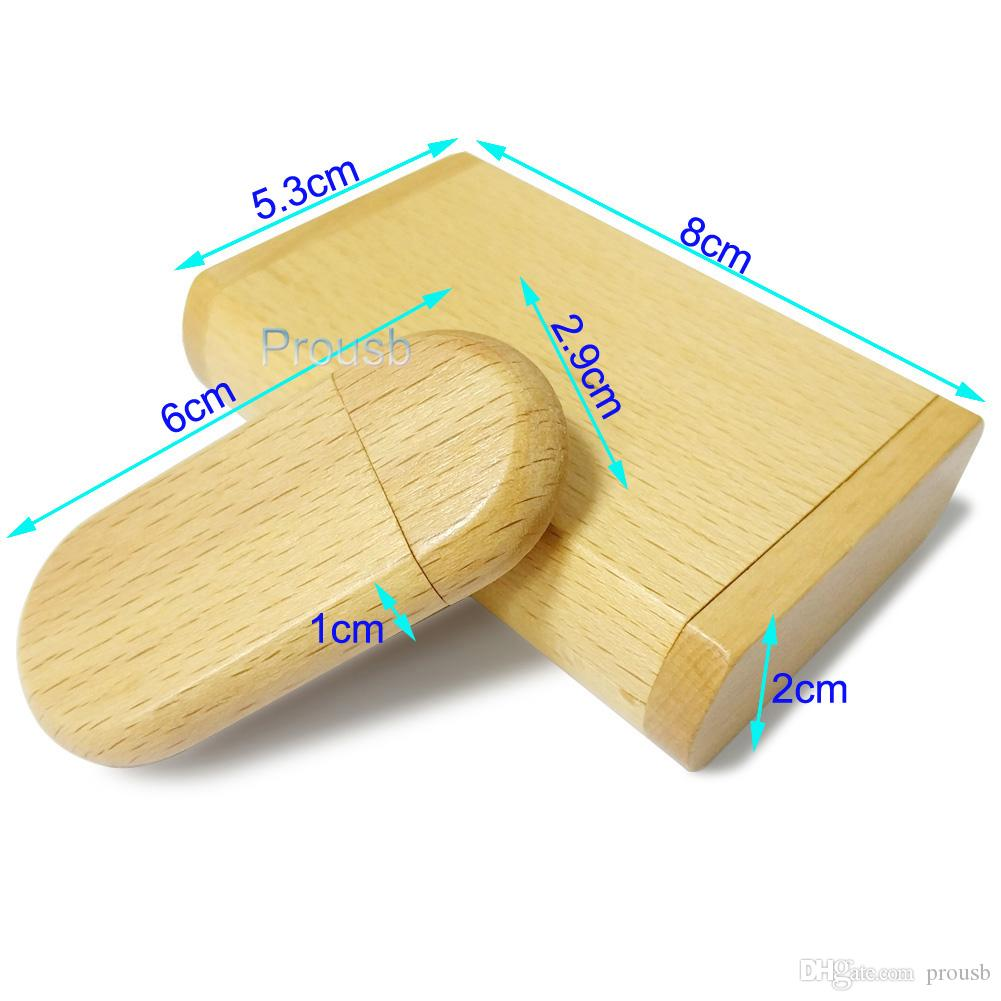 Bulk 2GB Clamshell Wooden Case USB Drive Best Promotion Gifts Memory Flash Pendrives True Storage
