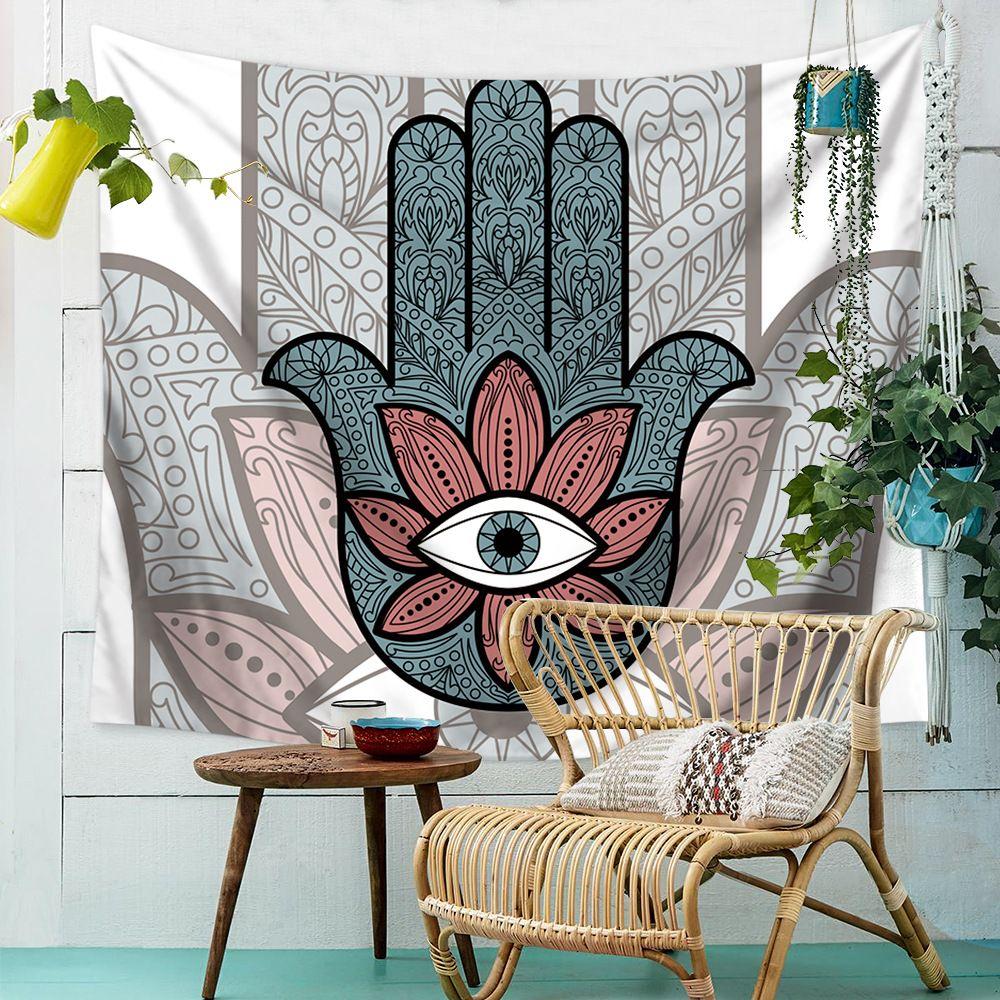 Bergana Exotic Tapestry Yoga Mats Rectangular Wall Hanging Blanket Tapestry Bedspread Shawl Ethnic Art tablecloth Home Living Decor