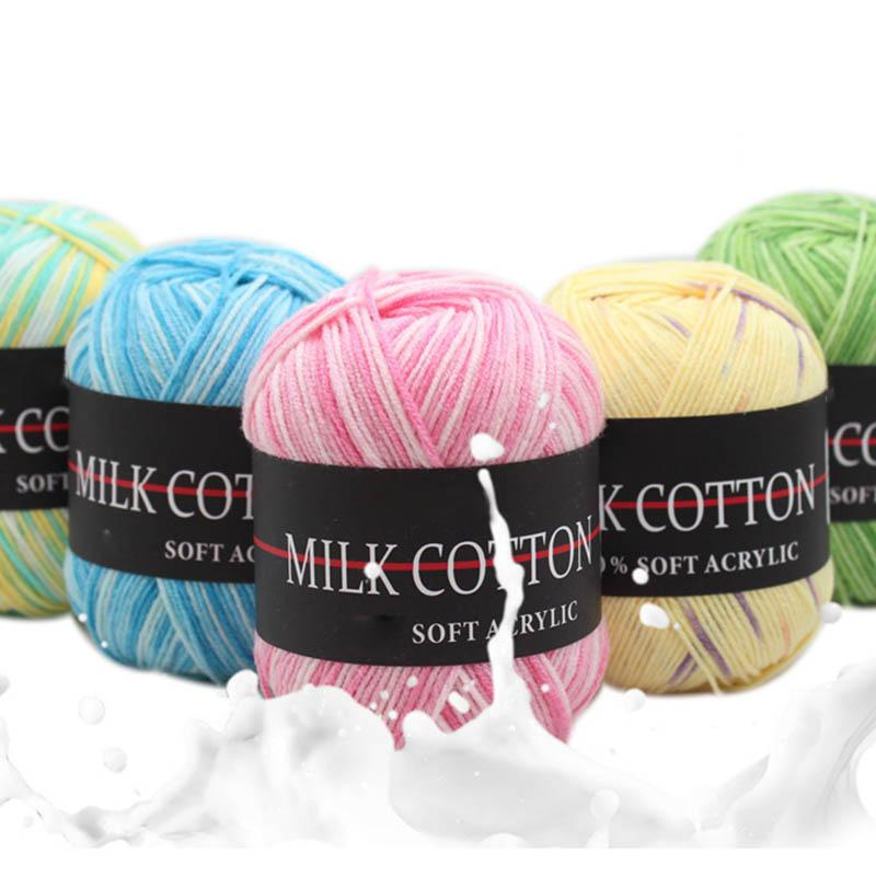Großhandel 10 Stücke Drei Stränge Färben Farbverlauf Baumwollfaden