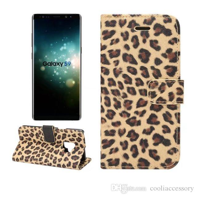 Jean Canvas Flip Wallet Leather Pouch Case For Samsung Galaxy NOTE 9 S9 PLUS Leopard Jeans Stand ID Card Cell Phone Skin Cover Luxury
