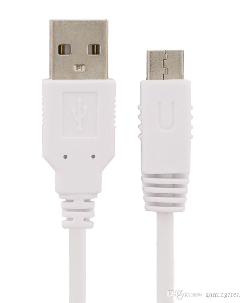 10ft 3m USB Gamepad Power Charge Charger Cable 3 Meter White Black Charging Lead for Wii U DHL FEDEX EMS