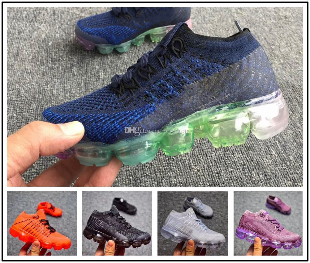 watch fdd6d b6f3e Acheter Nike Air Max Airmax Vapormax 2018 Nouveau Bébé Enfants Coureur  Casual Chaussures Garçon Fille Flair Formateurs Tricoter Baskets Coussin  Enfants ...