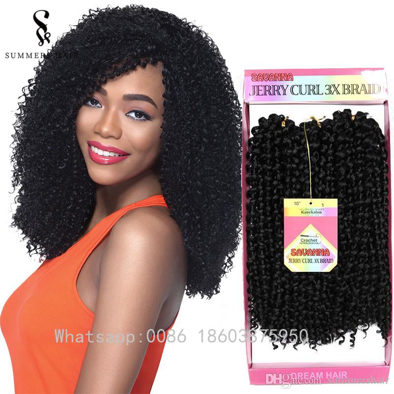 Summershair Kinky Curly Crochet Braids 10inch Short Synthetic