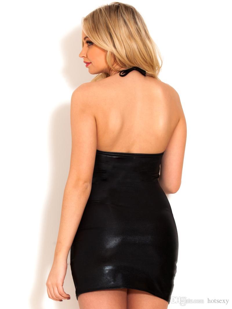 مرحلة ارتداء مثير ازياء السيدات فساتين ليلة حزب clubwear الغريبة اللاتكس catsuit زائد الحجم ملابس للنساء مثير البسيطة اللباس القطب الرقص