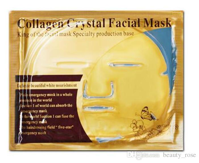 Gold Bio-Collagen Facial Mask Face Mask Crystal Gold Powder Collagen Facial Masks Moisturizing Anti-aging beauty products in stock DHL free