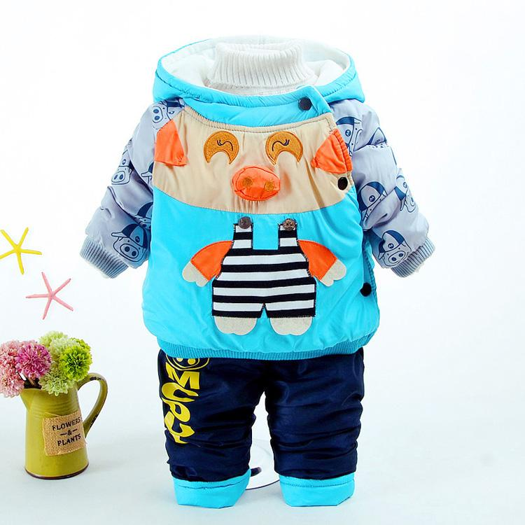 81c121b58 2019 Baby Boy Clothes 2018 Winter Boys Cartoon Pig Super Warm Coat+ ...