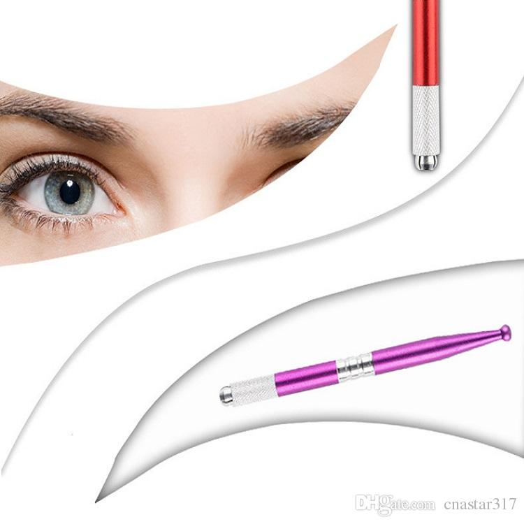 Pattern Single Head Cross Stitch Embroidered Hand-painted Embroidered Eyebrow Floating Lip Fog Eyebrow Pen Korean Semi-permanent
