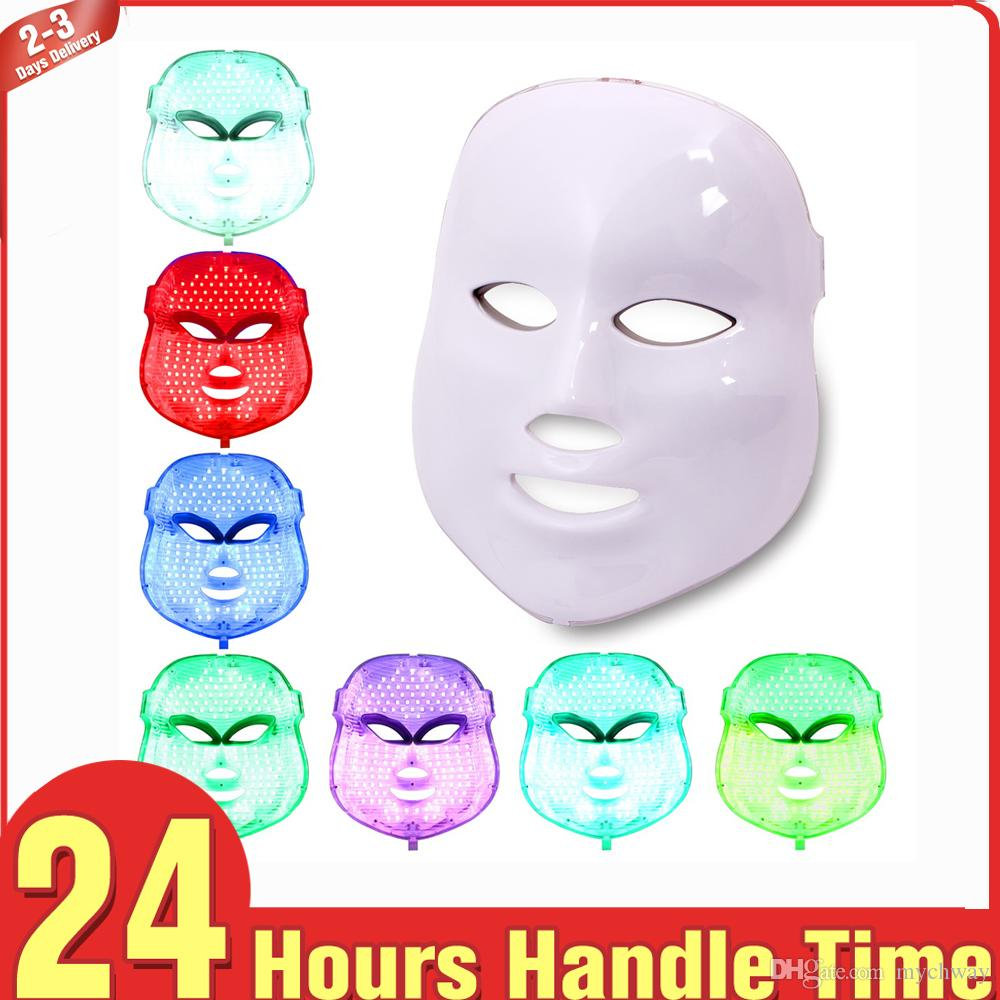 Best Price 7 Colors PDT Light RED LED Light Skin Therapy Equipment Face  Mask Skin rejuvenation whitening firming lifting acne therapy device