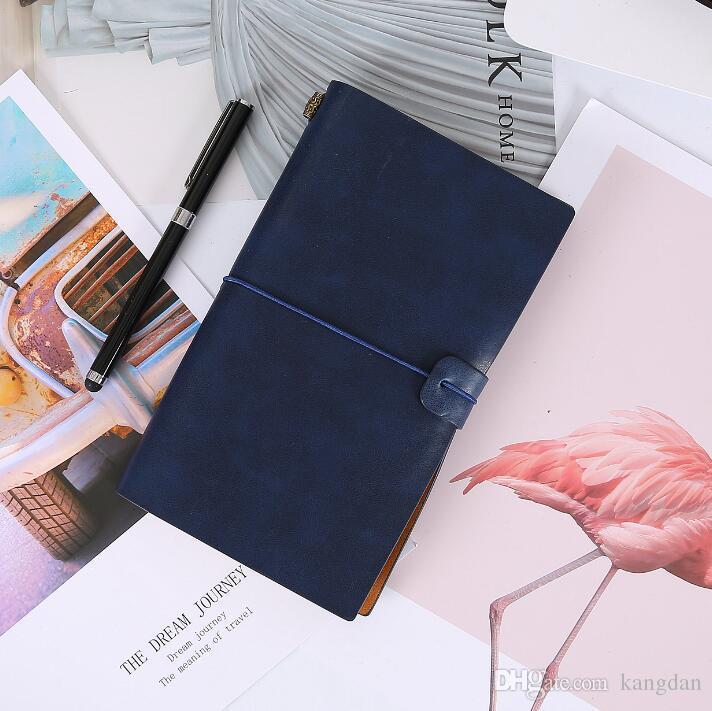 Vintage hecho a mano de cuero de vaca cuero genuino viajeros cuaderno diario diario Sketchbook planificador papel recargable oficina escuela regalo de cumpleaños