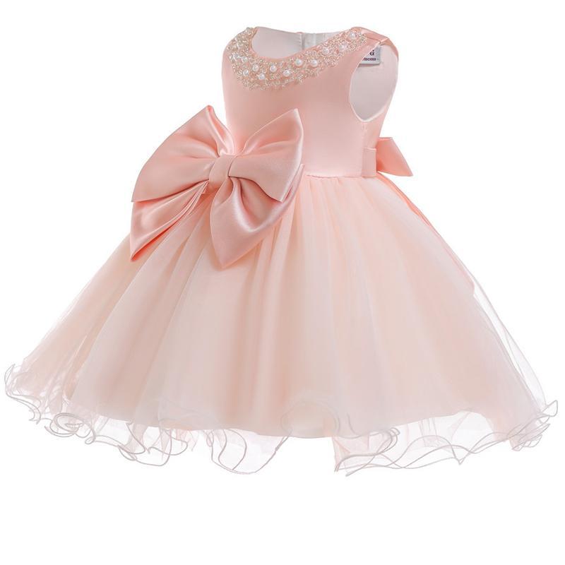 911133ac71579 Acheter 2018 Bébé Fille Robe Infantile De Mariage Robe Pour Fille Bébé  Première Fête D anniversaire Enfants Vêtements 1 Année Baptême 3 M De   24.91 Du ...