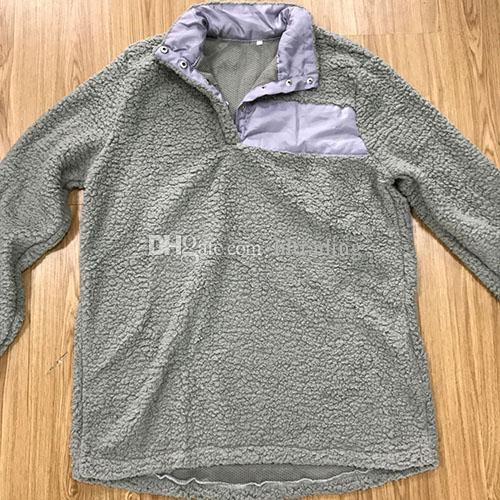 Sherpa 풀 오버 여성 큰 여자 겨울 가을 양털 스웨터 2018 새로운 절반 버튼 스웨터 7 색 DHL C3447