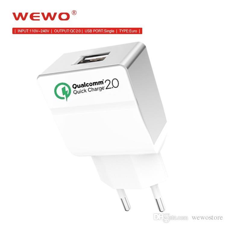 info for 91c08 5df1e Qualcomm Certified WEWO Quick Charge 2.0 Wall Charger USB Power Adapter  Cell Phone Fast Charging For iPhone X iPad Samsung Xiaomi