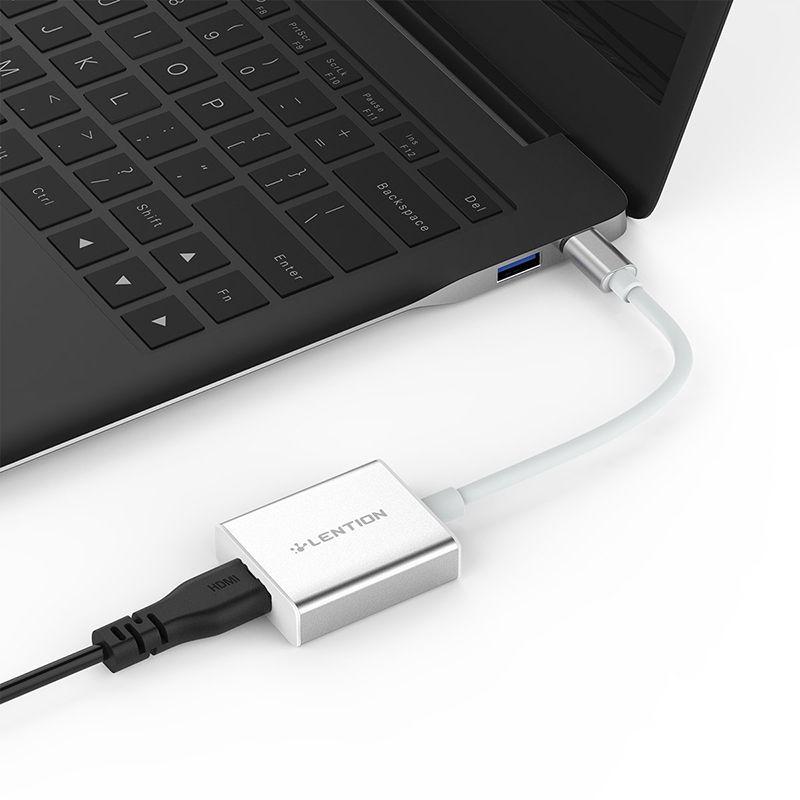USB C 4 K HDMI Dijital AV Adaptörü UCUZ USB 3.1 Tip C Thunderbolt 3 Bağlantı Noktası C0109