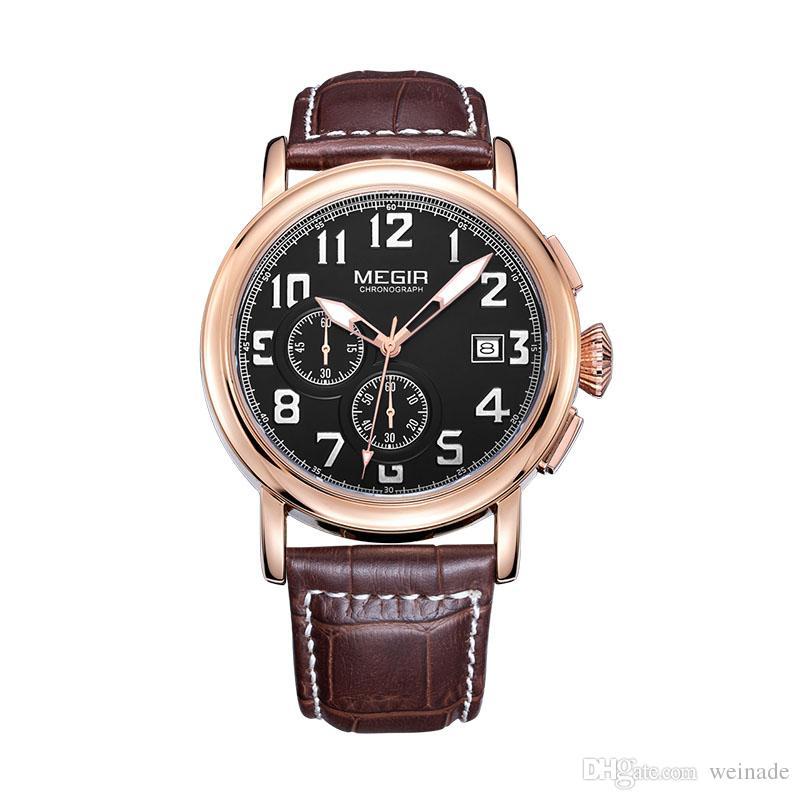 4dbf971717d Wholesale Megir Original Quartz Men Watch Top Brand Luxury Chronograph  Sport Watches Relogio Masculino Orologio Uomo For Men Gifts Black Watches  Wholesale ...
