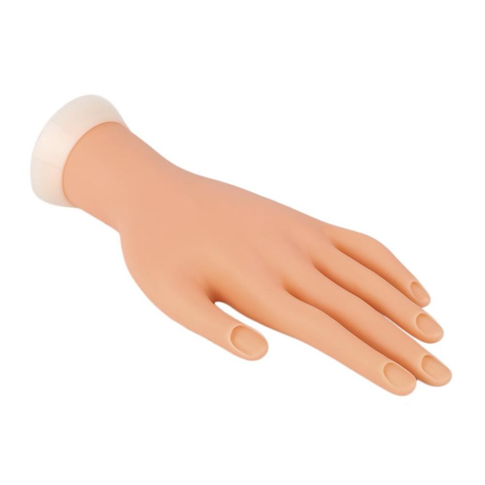 Pro Practice Nail Art Hand Soft Training Display Model Hands