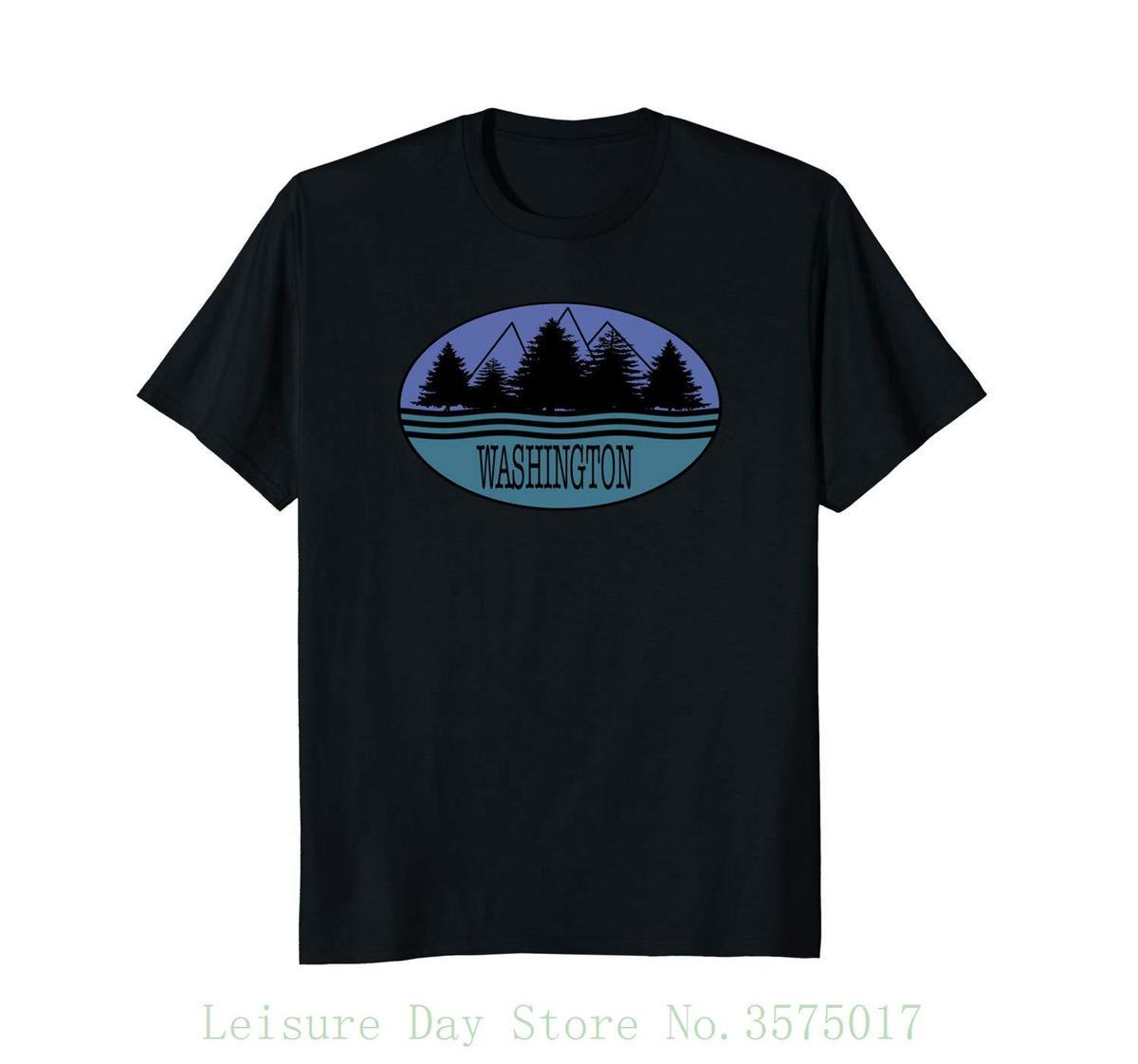 Bundesstaat Washington Souvenir T-Shirt Love Nature Outdoors 100% Baumwolle Kurzarm Sommer T-Shirt