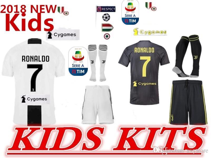 e3f6dfba1 18 19 Juventus Home Away Soccer Jersey 18 19 7 RONALDO DYBALA Soccer ...