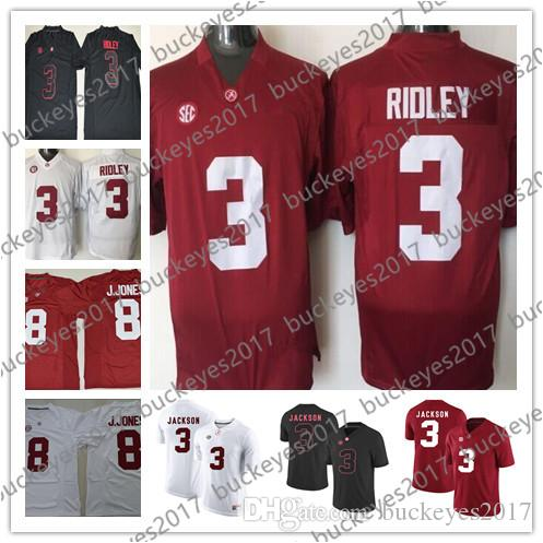 5aa72863440 NCAA Alabama Crimson Tide Hot Sale #3 Ridley Black Red White 8 Julio ...