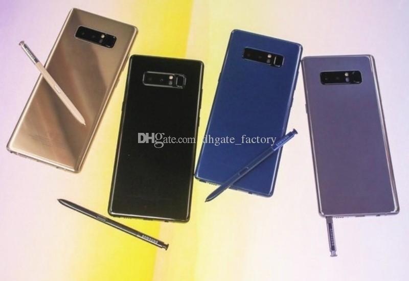 8.0MP Camera Note 8 6.3 pollici goophone note 8 cellulari Quad Core Android 7.1 8G ROM Mostra finte 128 GB ROM Fake 4G LTE sbloccato Smartphone