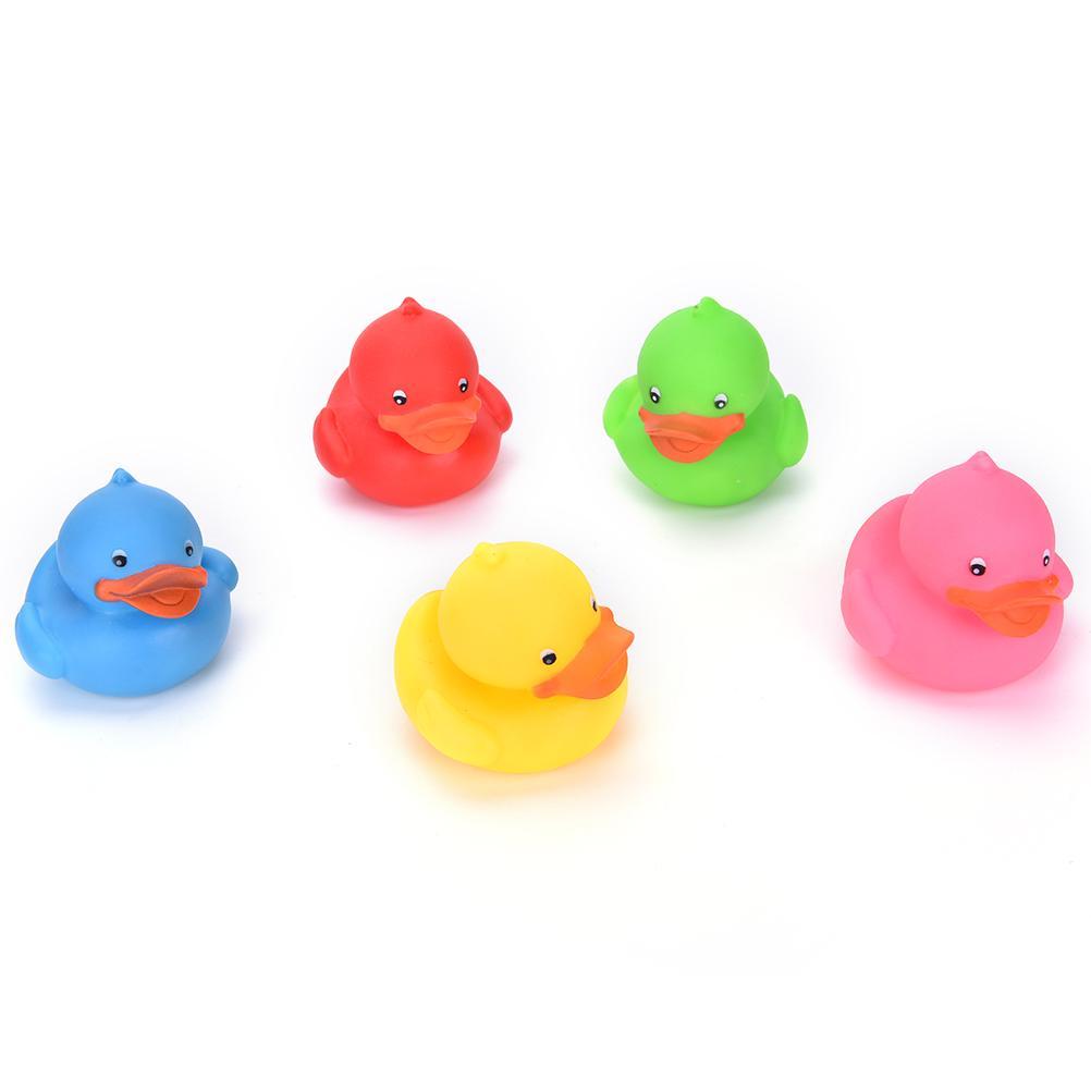 2018 Minifrtu 9 X 8cm Colorful Bathtime Rubber Duck Bath Squeaky ...