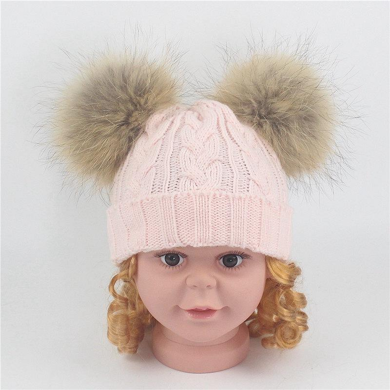 a991cb5840821 2019 1 8 Years Baby Winter Cap Russia A Cap For Boy Headdresses For  Children Warm Nature Fur Knitting Hat Baby Girl Hat From Beasy