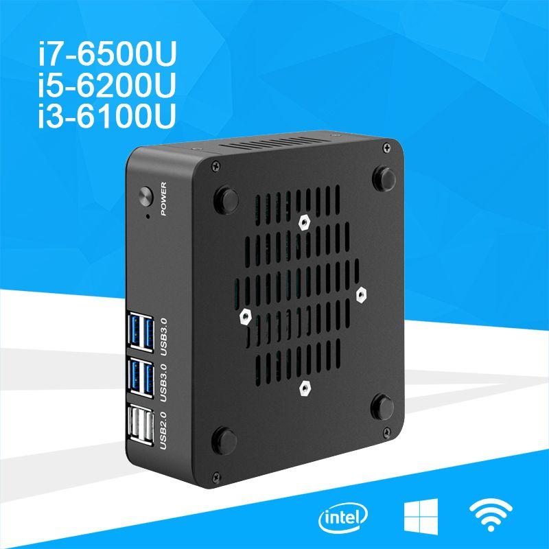 Excellent Mini Desktop Pc Core I7 6500U I5 6200U I3 6100U Processor Windows 10 Dd Ram Msata 4K Uhd Support Hdmi Vga Dual Display Wifi Download Free Architecture Designs Scobabritishbridgeorg