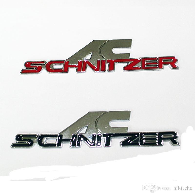 3D металл AC Шницер логотип автомобиля знак эмблема авто наклейки автомобиля наклейка 3 м клей для BMW автомобилей укладка наклейки аксессуары