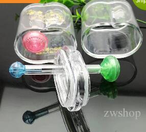 Double narguilé en acrylique, pipes en verre en gros de bangs en verre