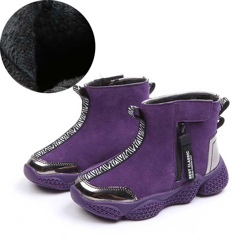 e1635948f287c Winter warme Martin Stiefel Kinder Mode Zip Ankle Boot Jungen Kinder Schuhe  Mädchen Martin Stiefel Schuhe 2018 # 7