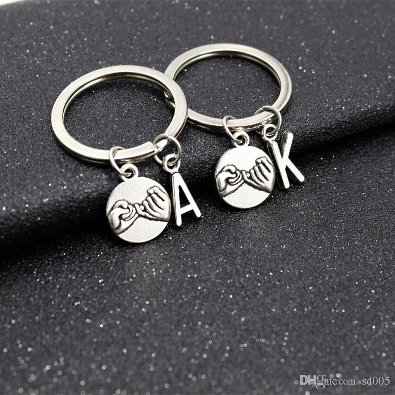 Anti Wear Alloy Key Ring Sturdy Hand Held Keychains English Letter A K Keys  Buckle Durable Popular 1 8hy BB Best Friend Keychains Couples Keychains  From ... 8f9a36839de2