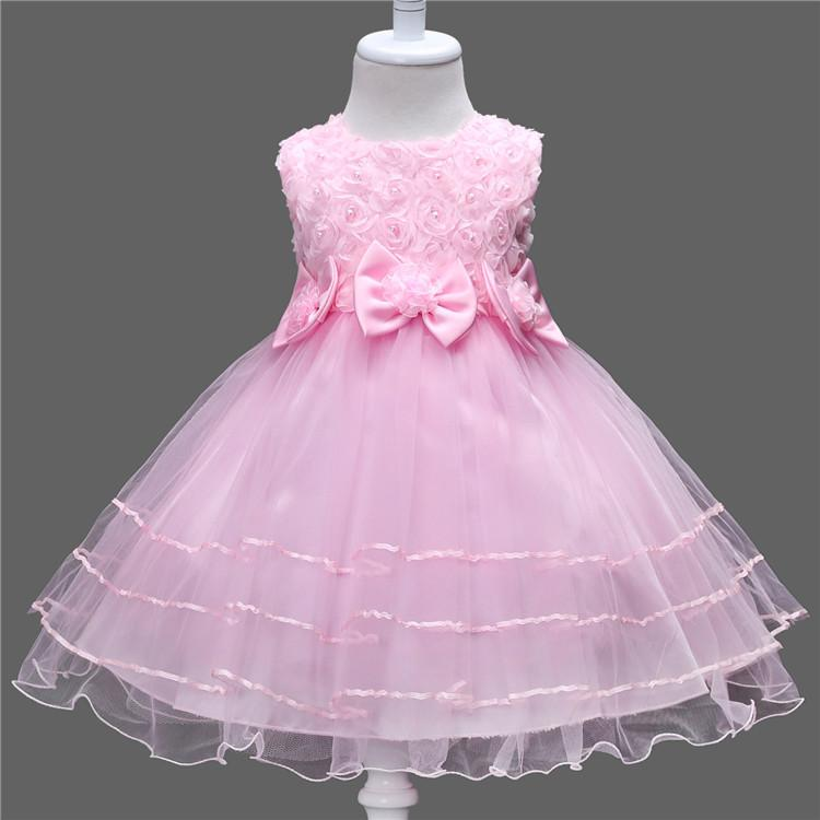 Summer Lace Flower Girls Dress Princess Wedding Children Clothing Girl Kids Clothes Baby Girl Birthday Dress Frocks Ceremonies