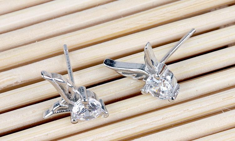 Cristal Austríaco Rhinestone Anjo Pingente de Prata Banhado Brincos Moda Classe Mulheres Meninas Senhora Swarovski Elements Jóias