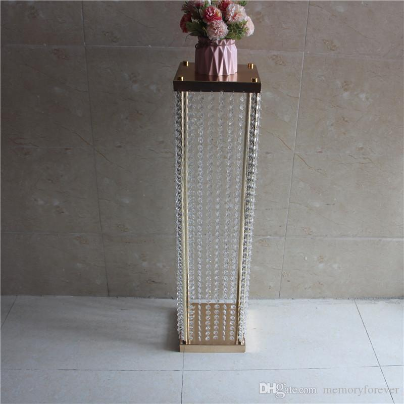 60CMH Wedding Crystal Table centerpiece Silver Flower Stand Wedding Chandelier Flower vase decoration party home events