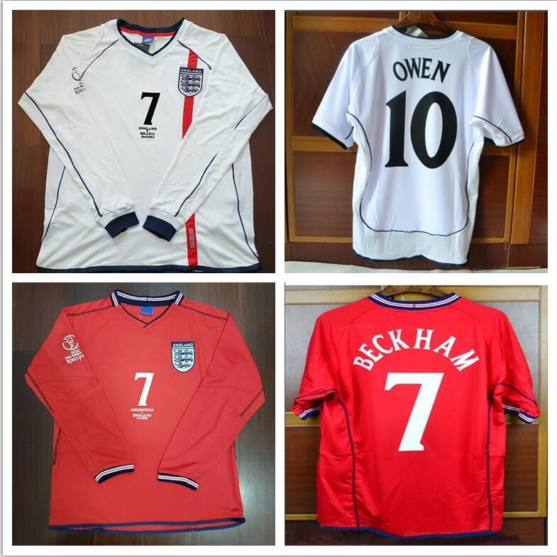 3e85b603c2 2019 2002 Beckham Scholes Owen Soccer Jersey Ronaldo 02 Football Shirt  Calcio MAGLIA Maillot Camisa De Futebol From Jerseyclubsoccer000