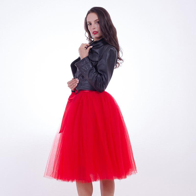 964d078f43 New Puffty Women Chiffon Tulle Skirt faldas High waist Midi Knee Length  Tulle Skirt plus size Grunge Jupe Female Tutu Skirts