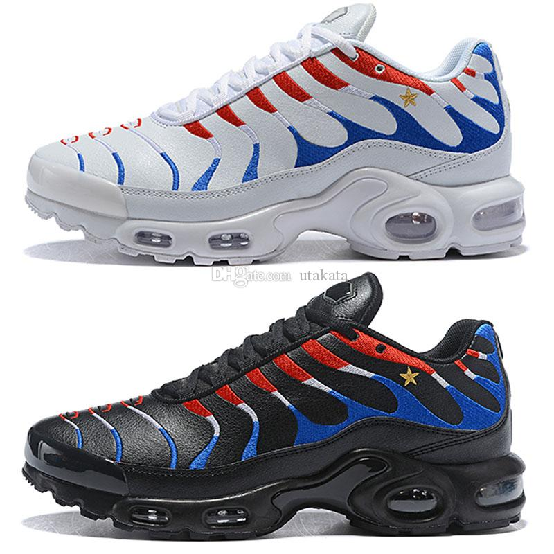 pretty nice 89d73 63e3e 2018 New Hot Unisex Men Women USA TN Ultra Casual Shoes Independence Day  White Black Running Shoes Sports Sneakers Size 36 46 Womens Trail Running  Shoes ...