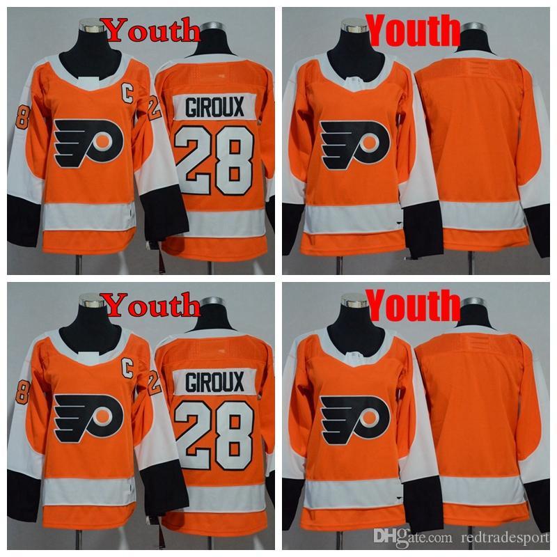 2018 Youth Philadelphia Flyers 28 Claude Giroux Kids Hockey Jerseys ... 8a368b3f8