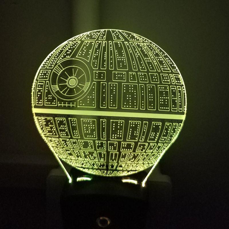 Death Star Mini Wall 3D Illusion Night Lamp Home Decoration Light Light Sensor Multiple Designs Wholesale Dropshipping