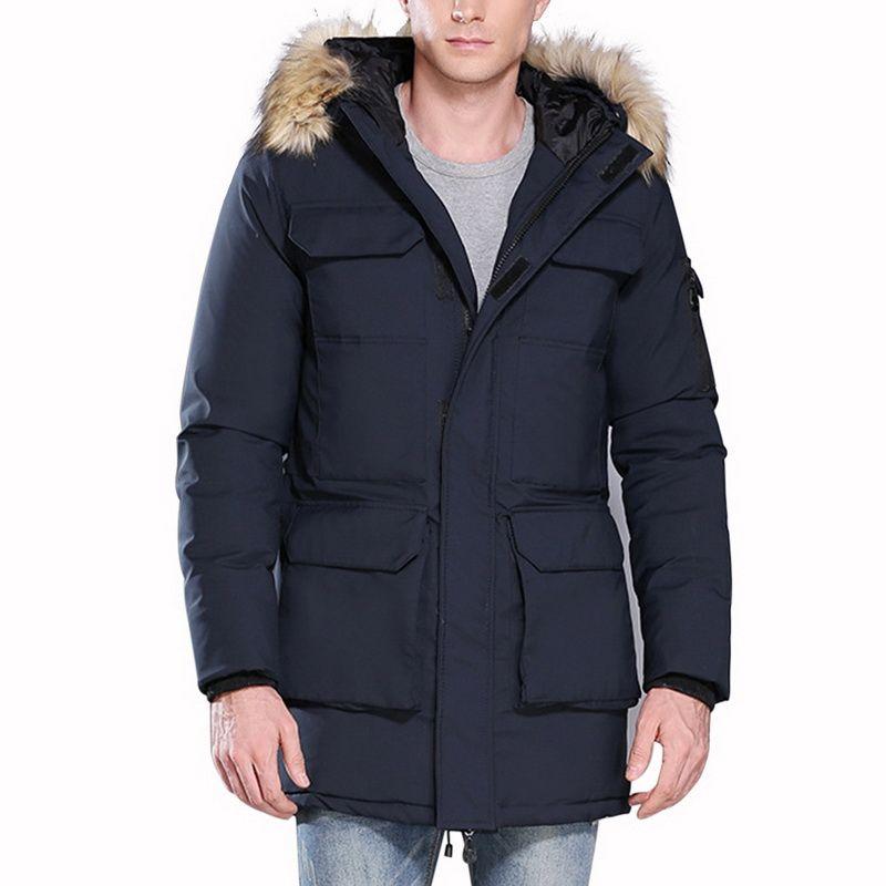b7a3fac9a5c CALOFE Winter Men Hiking Down Parkas Cotton Jackets Men  S Casual ...