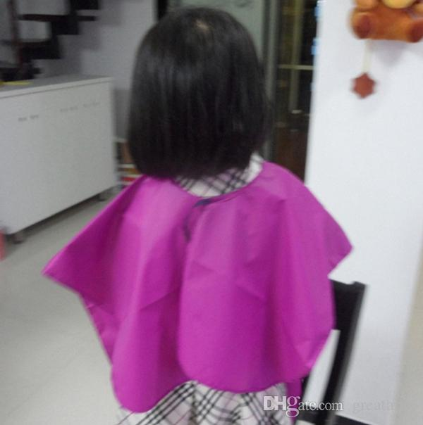 New kid child salon waterproof hair cut hairdressing barbers cape gown cloth kids baby hair capes top quality