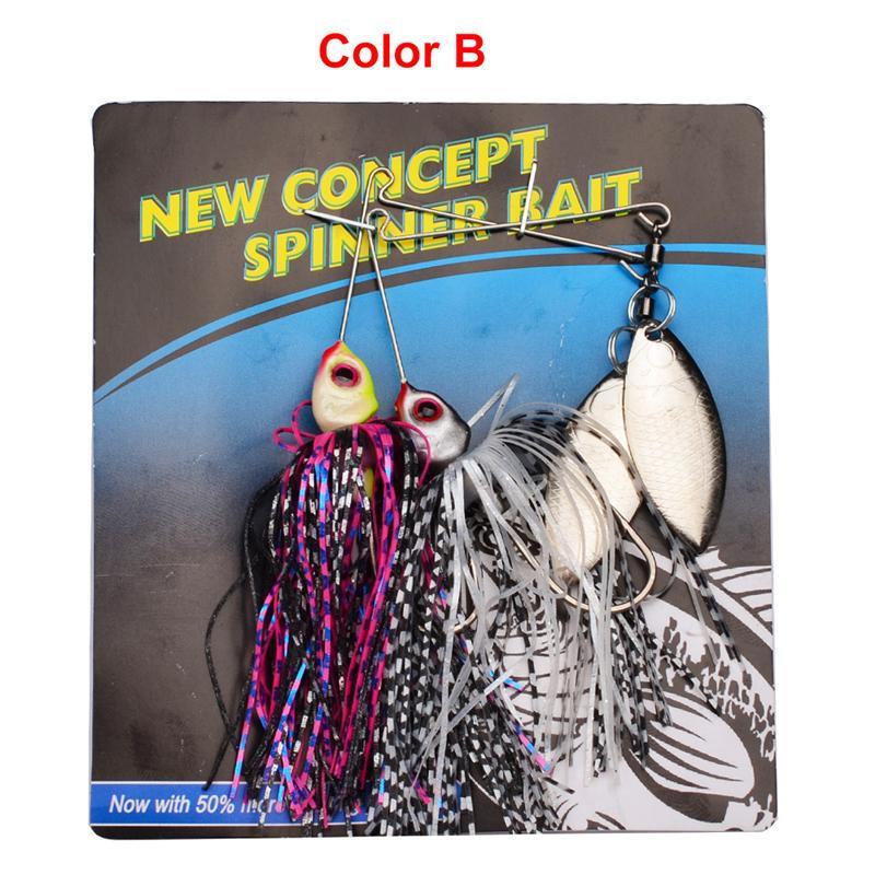 2 шт./лот новый металл Spinner рыболовные приманки 20 цветов ложки приманки джиги Buzzbait бас Spinnerbaits должны крюк