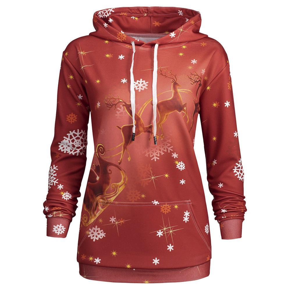 a6b87bc21770d 2019 2019 Kenancy Winter Plus Size 5XL Christmas Deer Kangaroo Pocket Hoodie  Sweatshirt Drawstring Snowflake Full Sleeve Hooded Pullover From Wear1