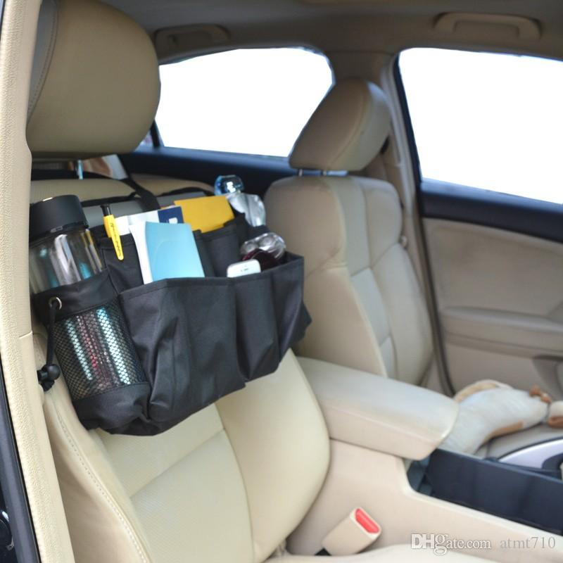Car Front Seat Organizer Passenger Storage Bag For Laptop Tablet Travel Office Accessory Back