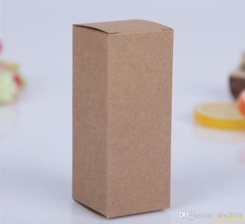 10 size Black white Kraft Paper cardboard box Lipstick Cosmetic Perfume Bottle Kraft Paper Box Essential Oil Packaging Box
