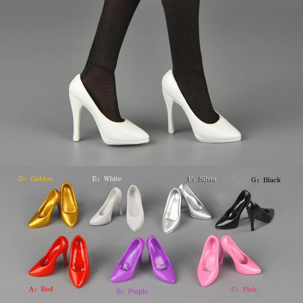 Hot Sale Kumik TTL ZCWO Girl Plastic 1/6 Scale High Heeled Toy Shoes For 12' Figure Body Action Doll Accessories Toys for Child