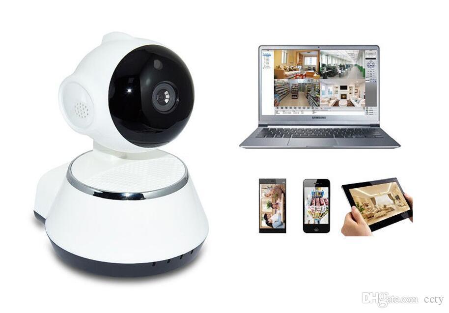 Nouveau ! Pan Tilt Sans Fil IP Caméra WIFI 720 P CCTV Home Security Cam Micro SD Slot Soutien Microphone P2P Gratuit APP ABS Plastique