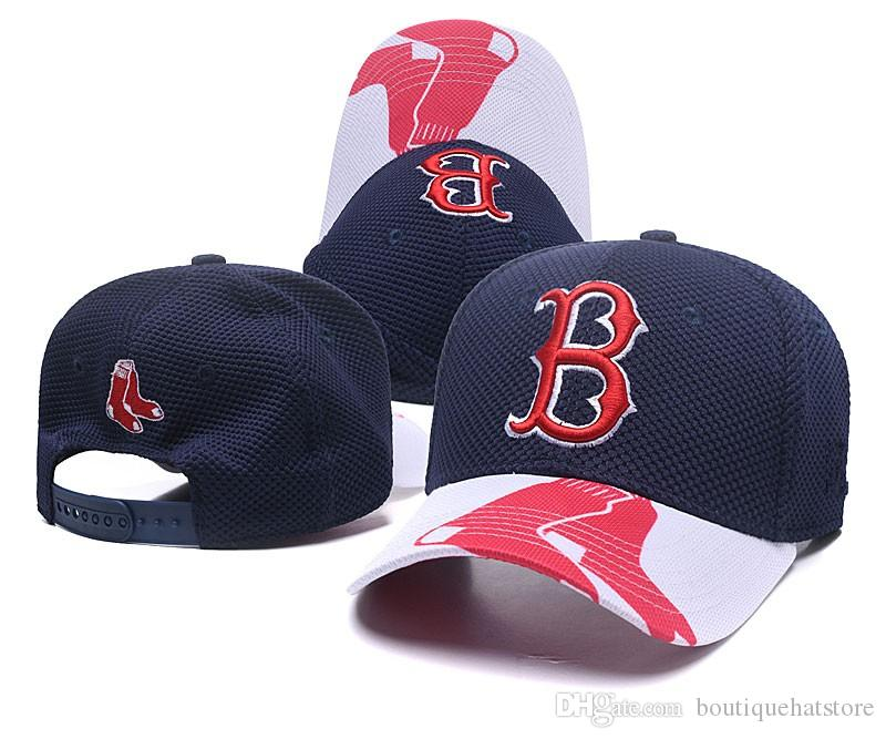 19b6a141482 2018 New Men S Boston Golf Visor Mesh Snapback Hat In Navy Blue Color With B  Letter Logo Embroidery Sport Adjustable Baseball Hats Snapback Cap Cool Hats  ...