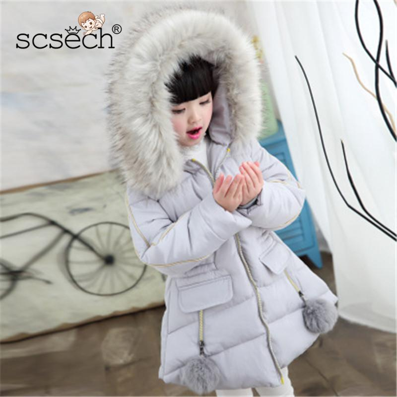 881f2f79f New Fashion Baby Girls Jackets New Hooded Kids Cotton Coat Toddler ...