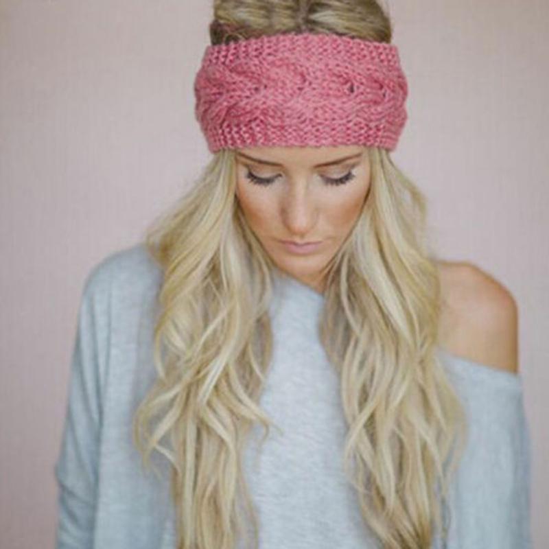 2018 Women Crochet Headband Knit Flower Hairband Ear Warmer Winter ...